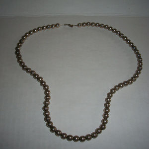Heavy 925 Silver 7.4MM  Ball Chain Necklace